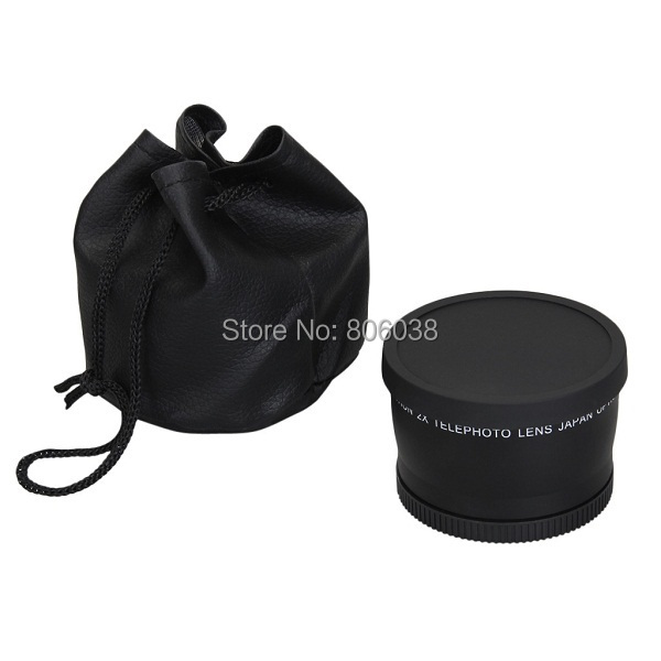 58mm 2.0X Professional Telephoto Lens for Canon 5D/6D/60D/ 350D / 400D / 450D / 500D / 1000D / 550D / 600D / 1100D 18-55MM Lens 10