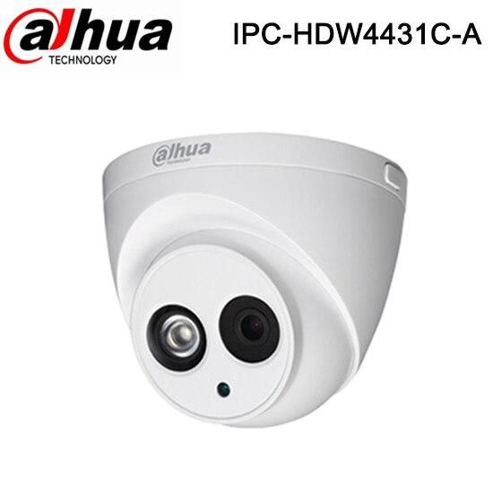 imágenes para Dahua IPC-HDW4300C IPC-HDW4431C-A para reemplazar 1080 p Cámara MICRÓFONO Incorporado leds IR $ NUMBER MP IR de la Red IP Ayuda POE, Onvif