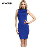 WKOUD Women S Candy Colors Tank Dress 2017 Sheath Backless Sleeveless Dresses Summer Sexy Club Vestdios