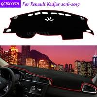 For Renault Kadjar 2016 2017 Dashboard Mat Protective Interior Photophobism Pad Shade Cushion Car Styling Auto