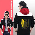 Hot Anime Cosplay Attack On Titan Hoodies Zipper Sweatshirts Streetwear Jacket