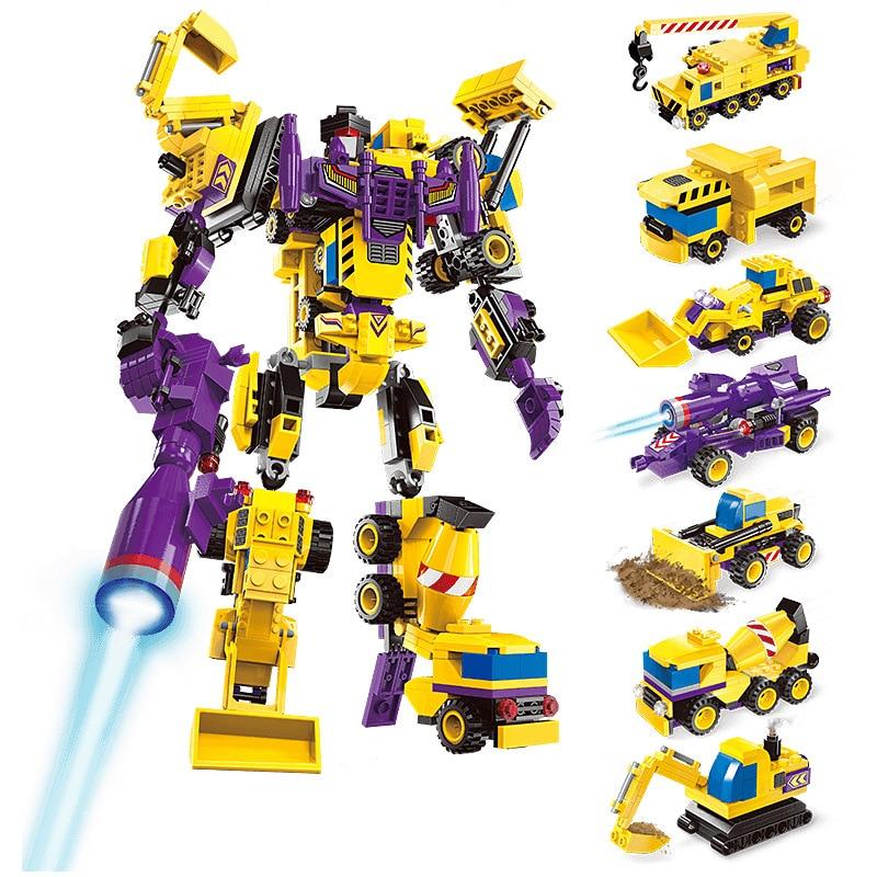 7in1 599pcs Transformation Series Robot Compatible Legoings technic Deformed robot god of war DIY figures Bricks Educational Toy