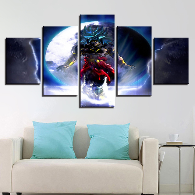 Canvas Paintings Home Framework Hd Prints Poster 5 Pieces Animated Cartoon Dragon Ball Pictures Living Room Wall Art