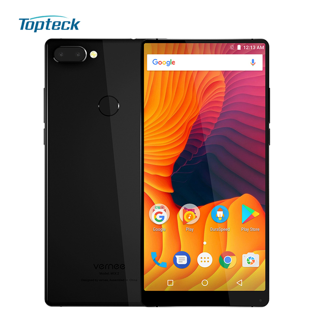 Vernee Mix 2 4G Mobile Phone 4GB RAM 64GB ROM MTK6757 Octa Core 6.0 Inch 18:9 13.0MP Dual Back Camera Android 7.0 Smartphone