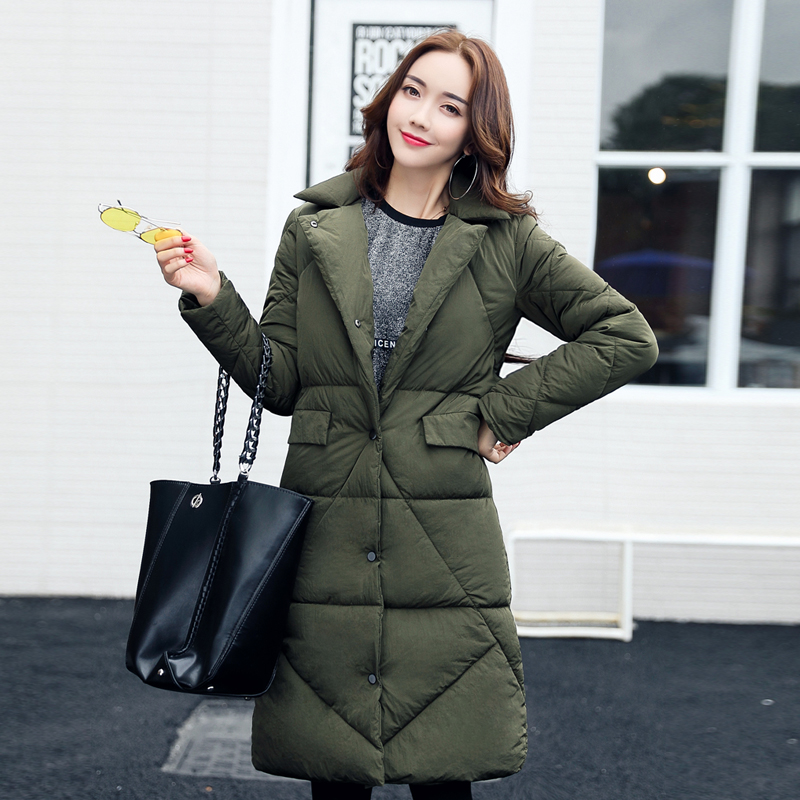 Maternity clothes down jacket winter coat jacket in the long section of pregnant women coat large size loose thin feather cotton new winter 2015 women cotton padded clothes draw string of cultivate one s morality show thin fashionable