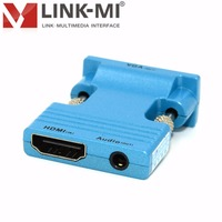 LINK MI LM HV04 HD Video 1080p Mini HDMI to VGA Converter With HDCP and Extra audio output HD signal portable mini converters