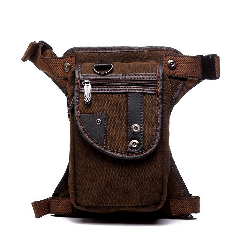 New Fashion Waterproof Canvas Waist Bag Casual Travel Men Bag Motorcycle Leg Bag Fanny Waist Pack 5 Colour