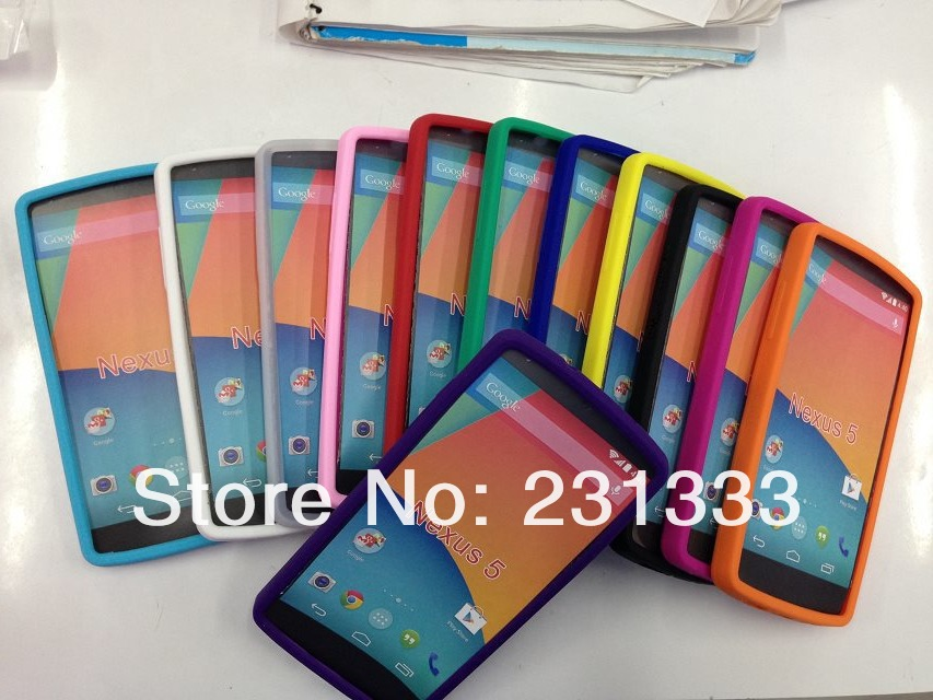 Soft Silicone TPU Clear Gel Plain Rubber back case For LG Google Nexus 5 E980 glossy new arrival cases skin 100pcs free shipping