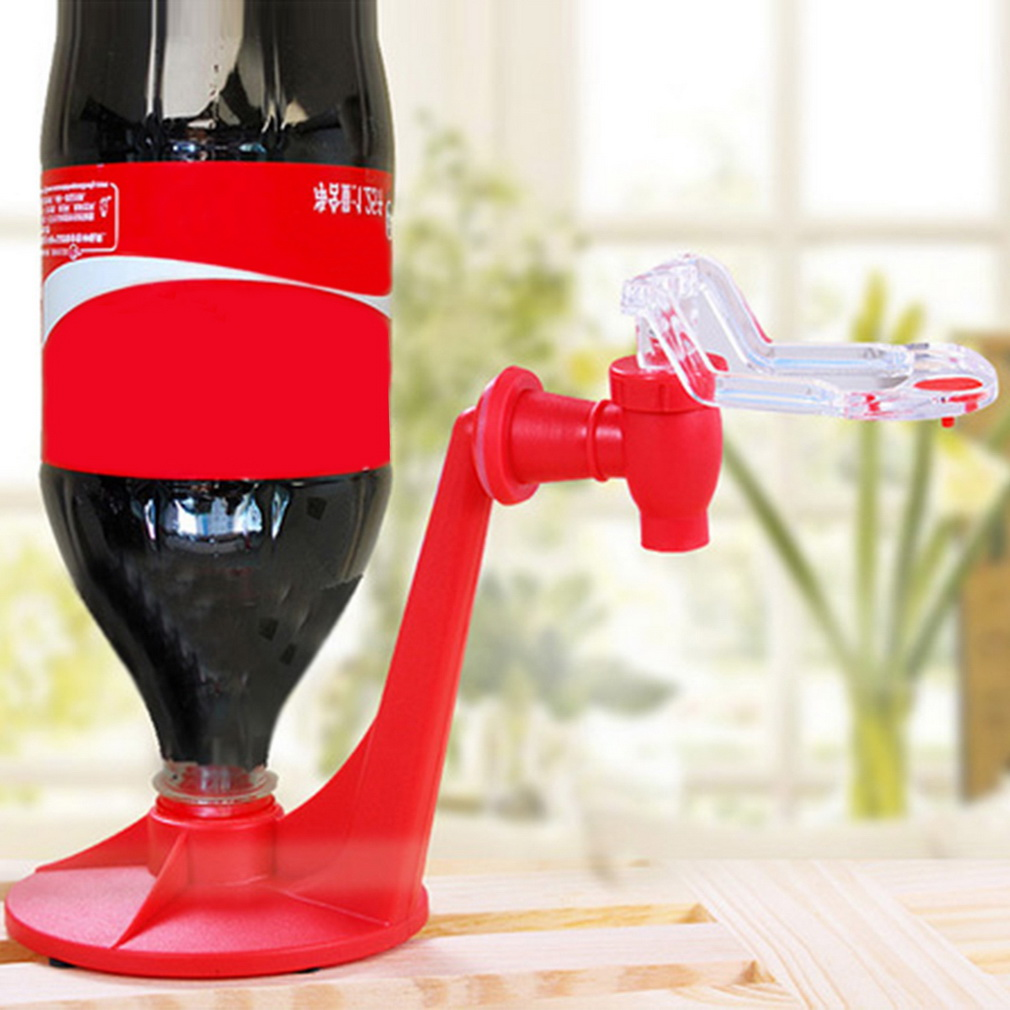 Hot Attractive Saver Soda Coke Bottle Insulation Material Upside Down Drinking Water Dispense Machine Gadget Party Home Bar Fun chic drinking soda dispense gadget water machine