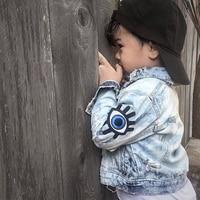 Baby Girls Denim Coats Vintage Jeans Jackets for Girl Toddler Denim Jackets Big Eyes Embroidery Kids Boys Denim Jacket Outerwear