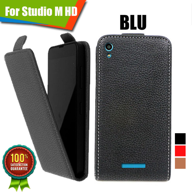 WholeSale price,Customed 100% Special Luxury PU Leather Flip Case For BLU Studio M HD,free gift