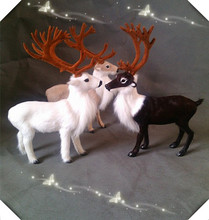 20x27cm simulation reindeer model ,polyethylene&furs handicraft Figurines&Miniatures decoration toy gift a2908