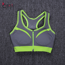 Gym Fitness Stretch Quick Drying Tank Top Sport Bra Women Fitness Shockproof Bra Push Up Top