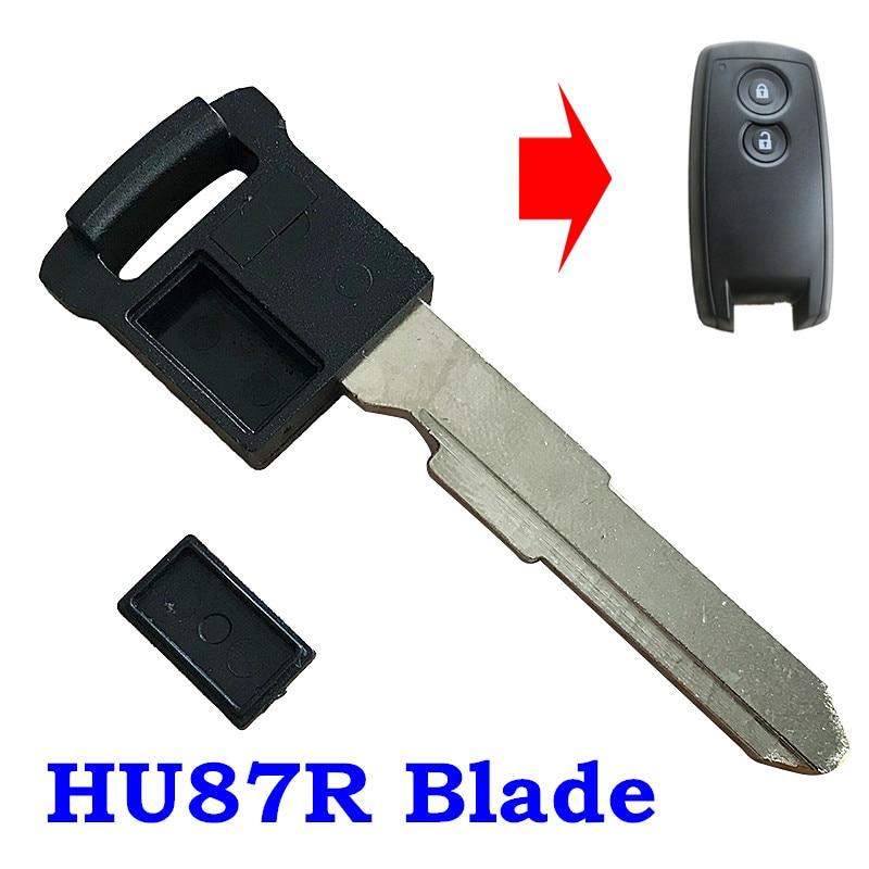 Lâmina de chave de emergência remota inteligente da inserção para a microplaqueta id46 da lâmina de suzuki grand vitara 2006-2012 sx4 2008-2012 hu87r