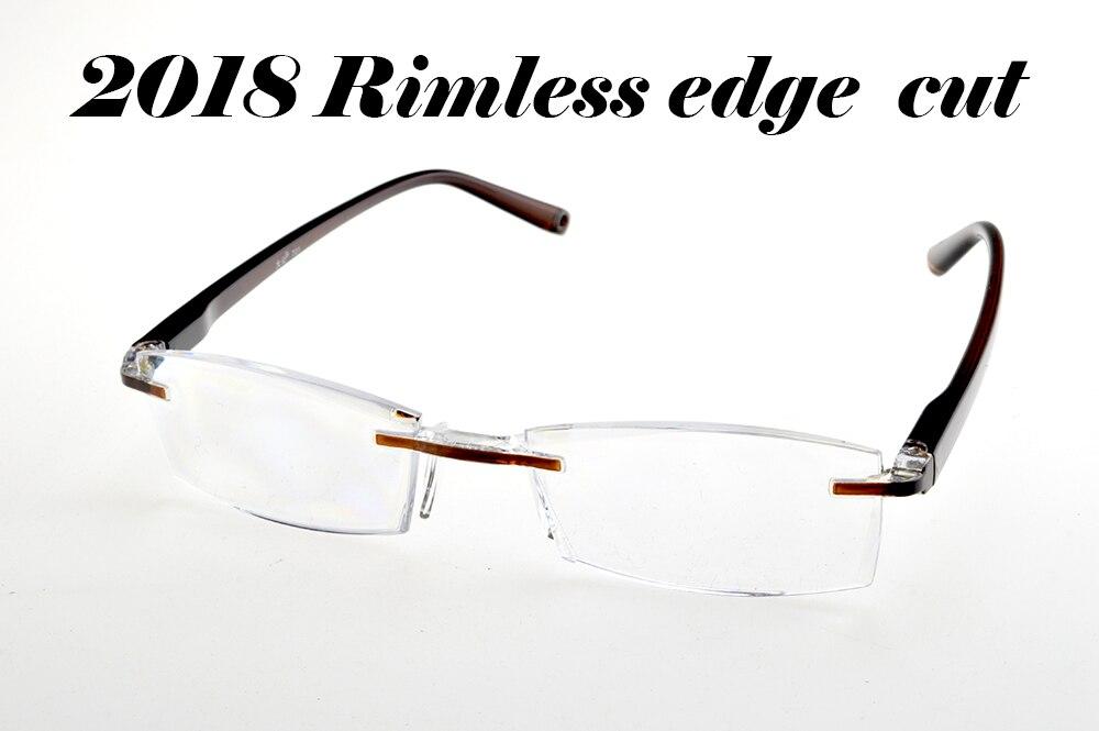2018 MEN WOMEN RIMLESS SQUARE READING GLASSES +1 +1.5 +2 +2.5 +3 +3.5 +4