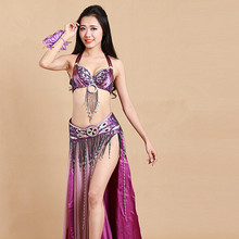 Bellydance oriental Belly Indian gypsy dance dancing costume costumes clothes bra belt chain scarf ring skirt dress set suit 288