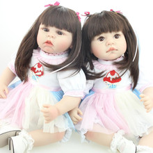 Silicone Reborn Baby Dolls Sleeping Babies Real Vinyl Belly 55cm Toys For Girls Brinquedos Reborn Bonecas