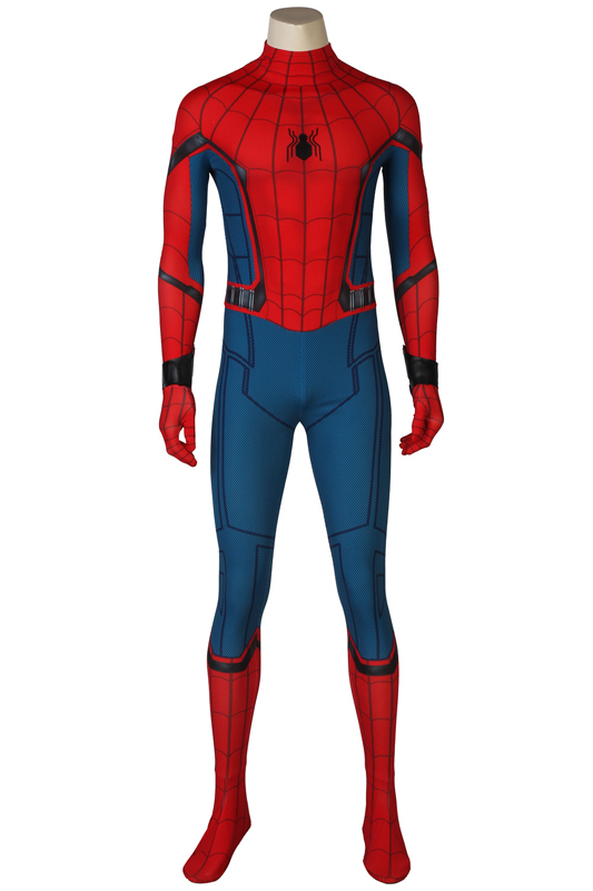 Vestiti Halloween.Hot Cakes Superhero Spider Man Homecoming Cosplay Costume Spider Man Outfit Halloween Jumpsuits Mask Outfit