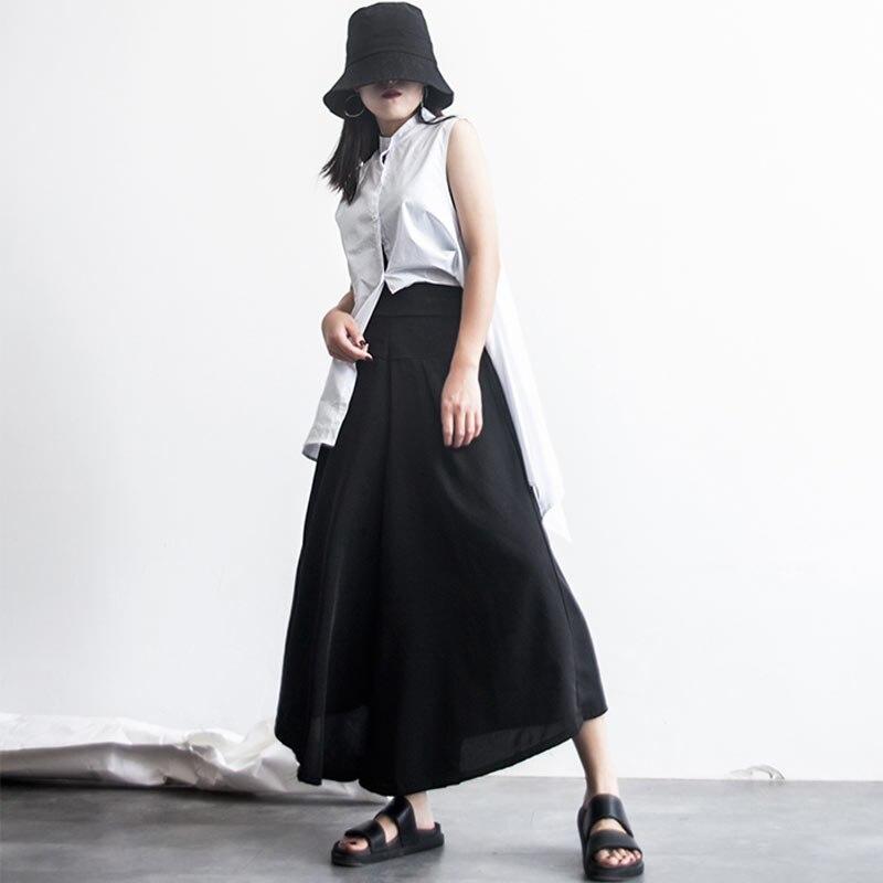 Tobillo De Streetwear Invierno Pantalones Longitud Negro Mujeres Sueltos Las Otoño Nuevo Alta Mujer Realshe Ancha Cintura Pierna t7wg5qx