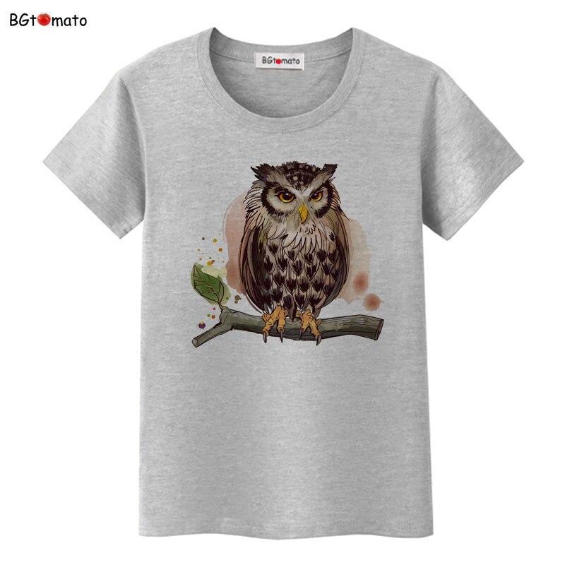 BGtomato Hand Painted 3D owl t shirt women/girl fashion creative originality shirts Good quality brand shirt trend tops