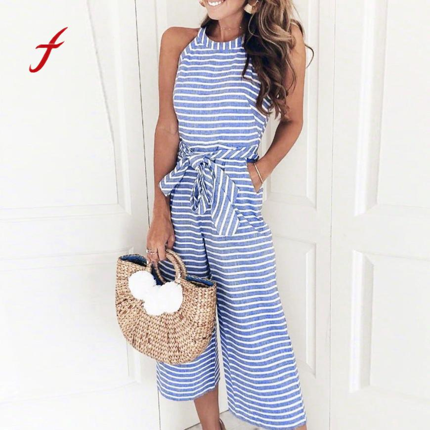 Sexy Summer Casual Sleeveless Jumpsuit For Women