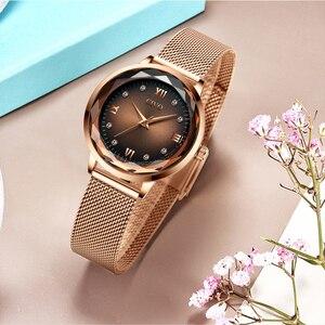 Image 3 - Fashion Women Watches 2019 CIVO Waterproof Rose Gold Steel Mesh Strap Quartz Women Watch Top Brand Ladies Clock Relogio Feminino