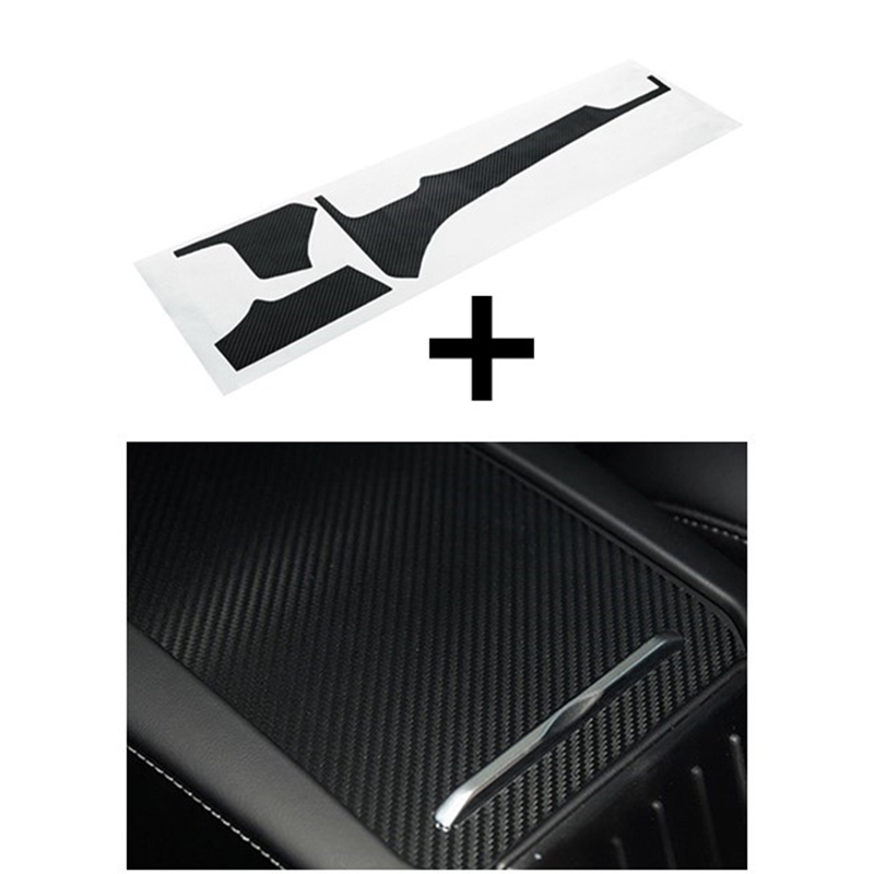 Carbon Fiber Car Interior Sticker Set Moulding For Tesla Model X S Kits Dashboard Control Accessories