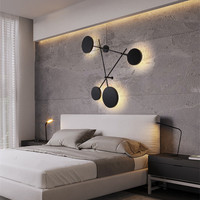 Постмодерн светодиодный настенный светильник книги по искусству творческий гостиная лестница и спальня для прикроватной учебы украшения