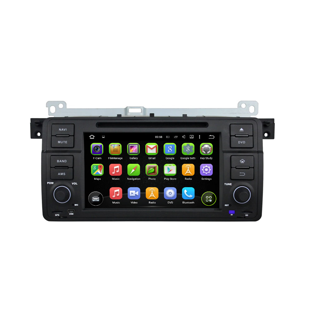 7 Inch 1Din Android 5 1 Quad Core HD1024 600 Car DVD Player For BMW For