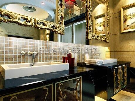 Naturale mosaico di marmo, legno stile giallo, cucina Torna Splash ...