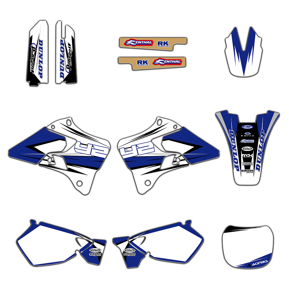 Motorcycle TEAM GRAPHICS BACKGROUNDS DECALS STICKERS Kits for Yamaha YZ125 YZ250 YZ 125 250 1996 2001-in Decals & Stickers from Automobiles & Motorcycles    1
