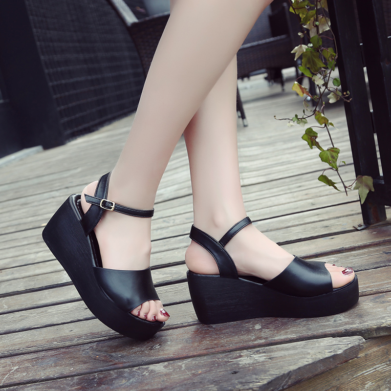 167baf6a0f01 2018 Shoes Women Sandals Gladiator Shoes Woman High Heel Ladies Sandals  With Heels Flat Platform Sandal sandalias mujer m092-in High Heels from  Shoes on ...