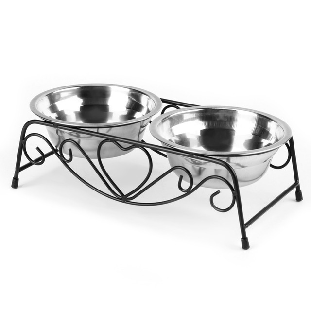 Stainless Steel Double Dog Bowl  1