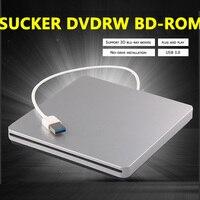 Sucker Bluray External Burner USB 3.0 Portatil DL DVD RW CD Writer Slim DVD driver optical burner CD player DVD RW CD/DVD ROM