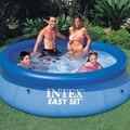INTEX синий цвет над наземным плавательным бассейном семья лето играть дети Плавательный Бассейн piscine aqua водные виды спорта легкий набор