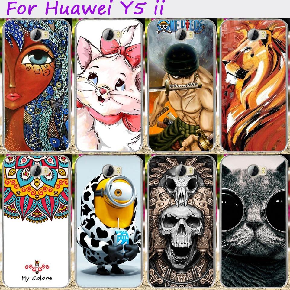 ShenZhen WT Technology Co., LTD Hard Plastic Cute Minions Phone Cases For Huawei Y5 II Y6 ii Compact Y6 ii MINI CUN-U29 5.0 inch Cover Phone Shell Accessories