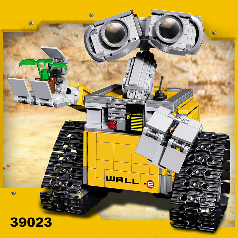 687 Pcs Idea Educational Robot WALL E Figures Building Blocks Compatible LegoINGLYS Robot WALL-E Bricks Birthday Gifts wall e walle wall e robot models wall e
