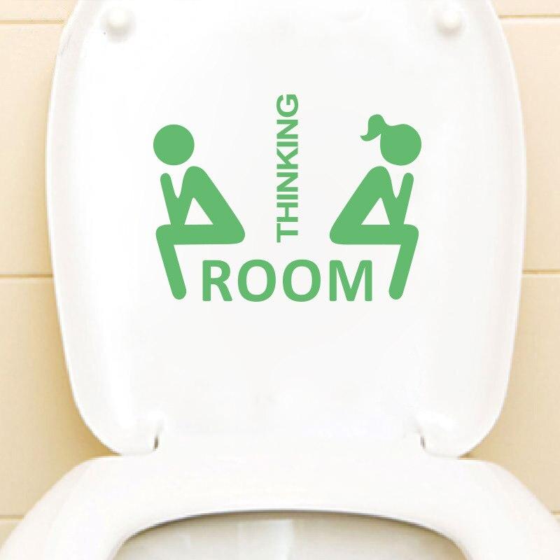 Туалет наклейки Водонепроницаемый световой обои наклейки сиденье для унитаза напоминание украшения дома Diy Книги по искусству наклейки