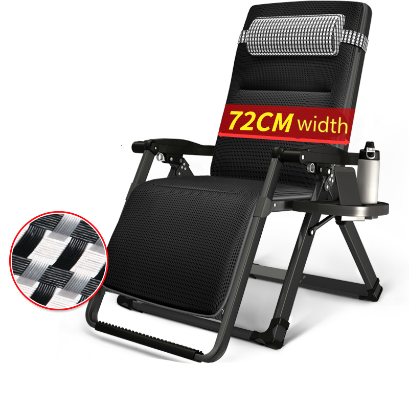 Leisure Deck Chair Adjustable Reclining Breathable Outdoor Beach Chair Multi-function Foldable Office Lunch Break Seat
