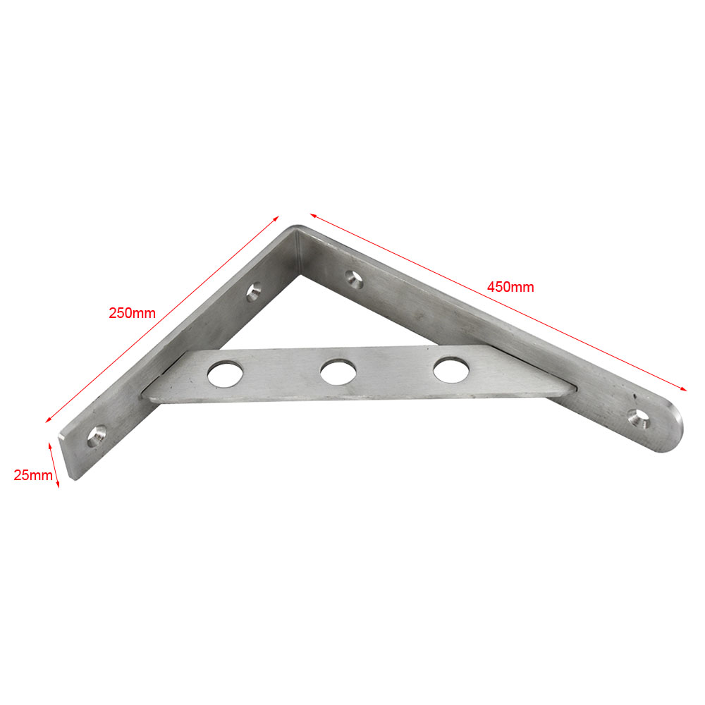18 Inch 450x250mm Stainless Steel Triangle Shelf Bracket 18 quot Wall Mounted Heavy Bearing Support Furniture Brackets in Brackets from Home Improvement