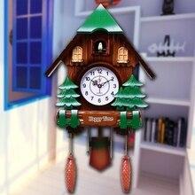 Ремесла Искусство украшения дома свинья Paige с кукушкой часы с кукушкой детская спальня смотреть мультфильм птица Творческий Часы