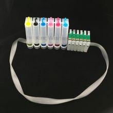 6 Color T0851 T0852 T0853 T0854 T0855 T0856 CISS con reajustó la viruta para Epson 1390 sin tinta