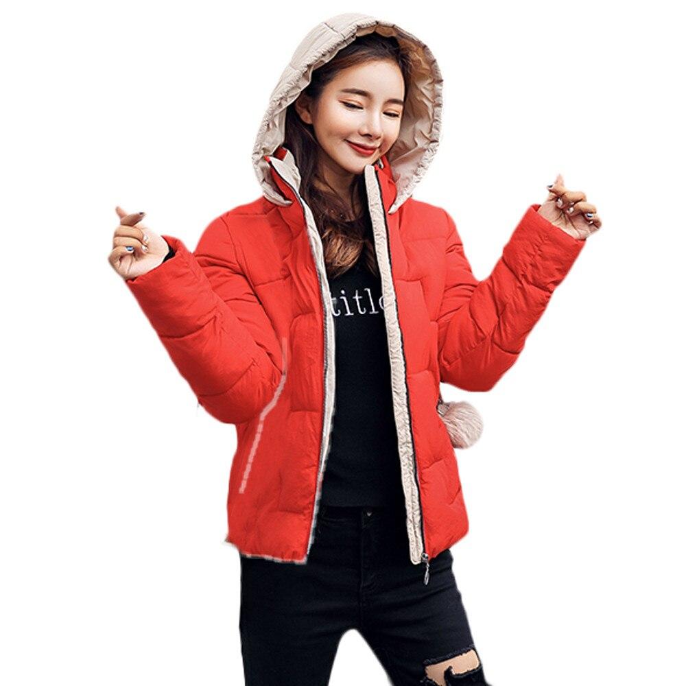 Free Ostrich 2019 new ladies fashion coat winter jacket women outerwear short jacket female padded   parka   women's overcoat N30