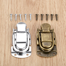 1Pc Vintage Metal Lock Chest Box Gift Suitcase Case Buckles Toggle Hasp Latch Catch Clasp Furniture Hardware 34*67mm