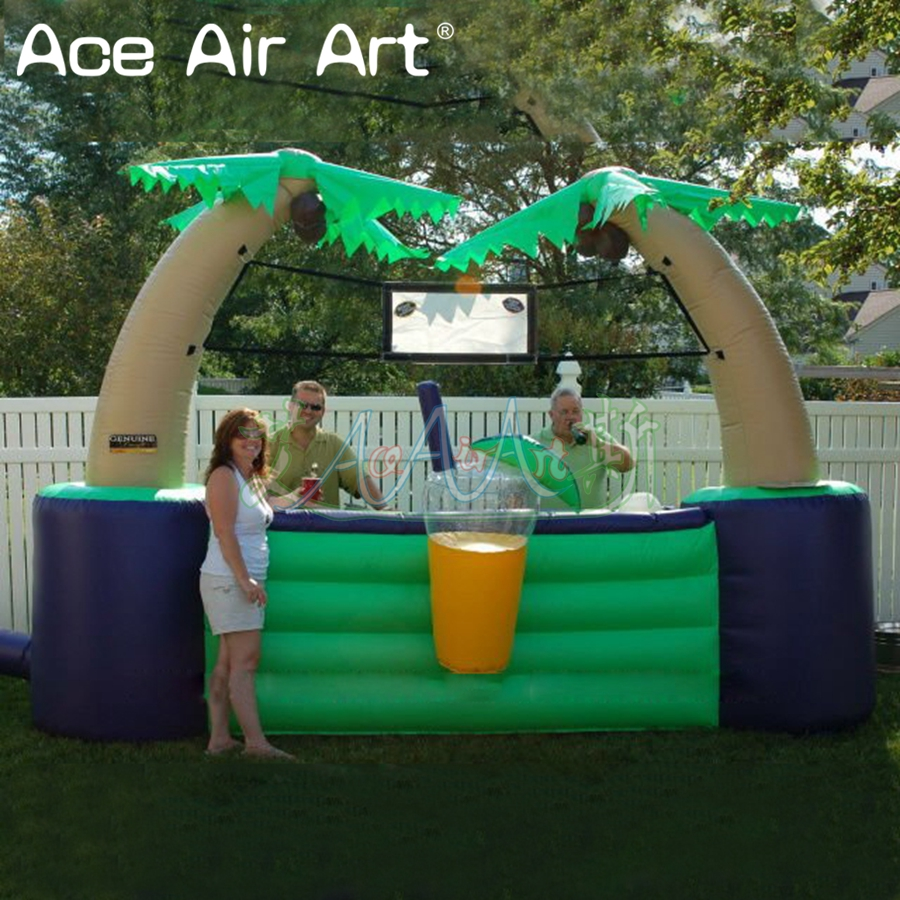 Portable inflatable tiki bar,inflatable kiosk bar/Beverage stall/sale station for lemon drink promotion