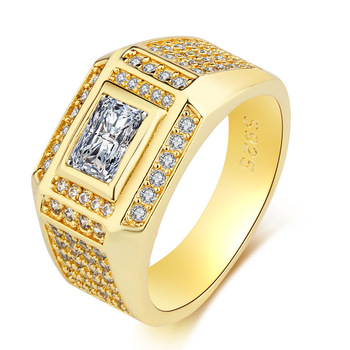 טבעת כסף 925 מוזהב וקריסטל