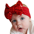 Hot Sale New Fashion Sequined Bow Headbands Cute Baby Girls Hairbands Turban Knot Headband Baby Hair Accesories Free Shipping