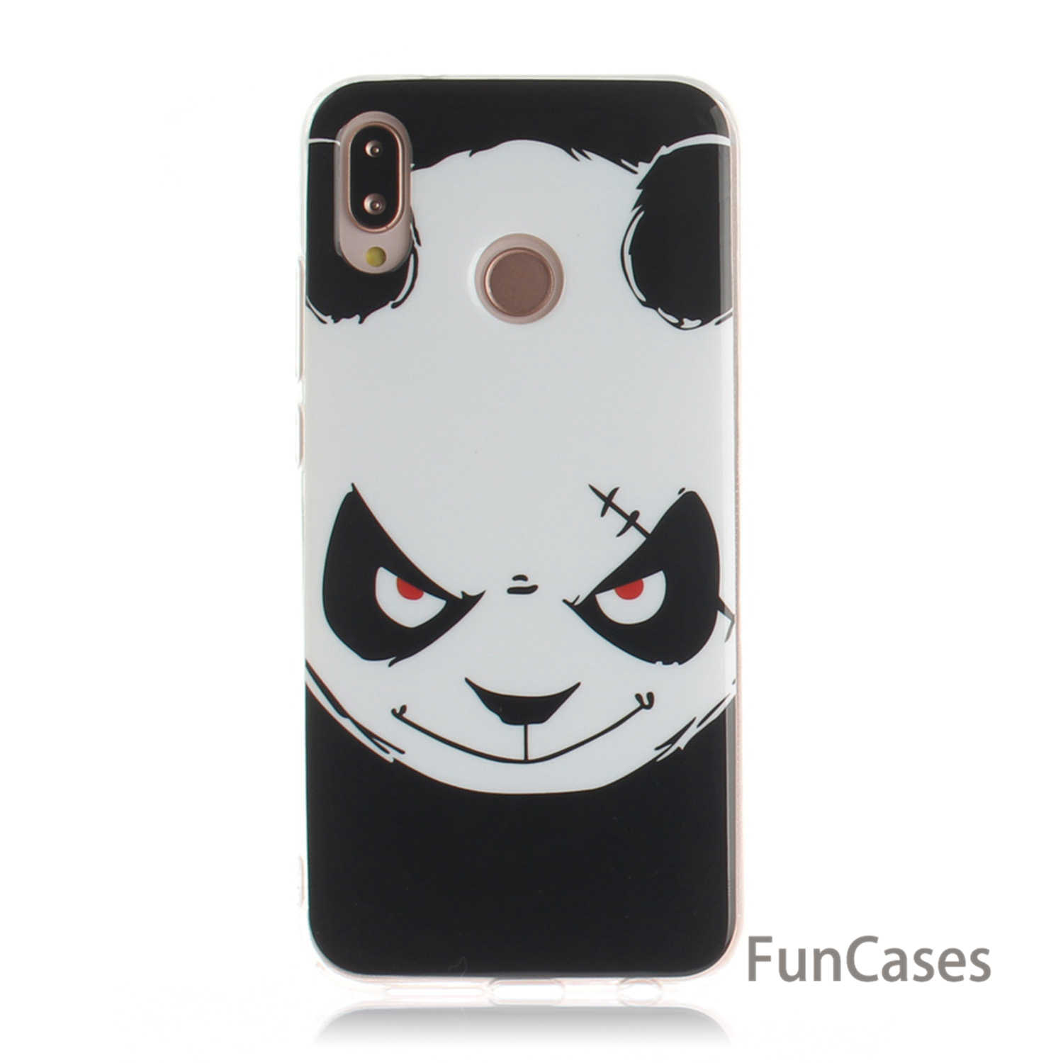 Soft Silicone Back Covers For capa Huawei P20 Lite White Cat Funda sFor Coques Huawei Ascend accesorios Nova 3e Fitted Case