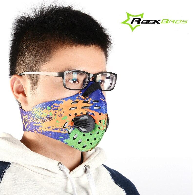 Prix pour RockBros Anti-Poussière Vélo Vélo Vélo Masque Sport Ville Courir Formation Masque Air Doux Coupe-Vent Homme Masque Anti Pollution