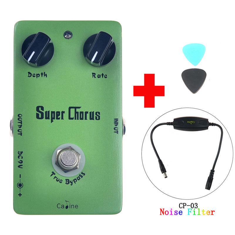 Caline CP-13 Super Chorus Guitar Effect Pedal True Bypass design Guitar Accessories  and Caline CP-03 Noise Filter volume pedal new portable true bypass design 15ma 2in1 volume pedal cp 31 wah pedal musical instruments accessories ea14